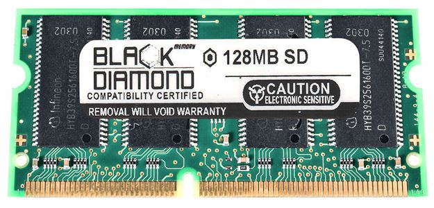 Picture of 128MB  SDRAM PC133 SODIMM Memory 144-pin (1Rx16)