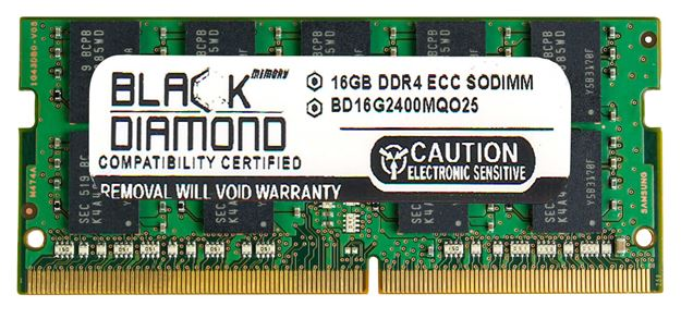 Picture of 16GB DDR4 2400 ECC SODIMM Memory 260-pin (2Rx8)