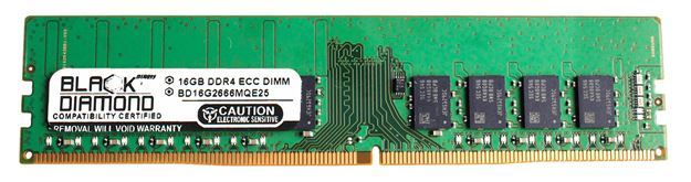 Picture of 16GB DDR4 2666 ECC Memory 288-pin (2Rx8)