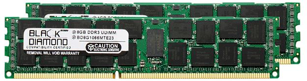 Picture of 16GB Kit (2x8GB) DDR3 1066 (PC3-8500) ECC Registered Memory 240-pin (2Rx4)