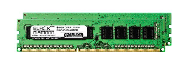 Picture of 16GB Kit (2x8GB) DDR3 1600 (PC3-12800) ECC Memory 240-pin (2Rx8)
