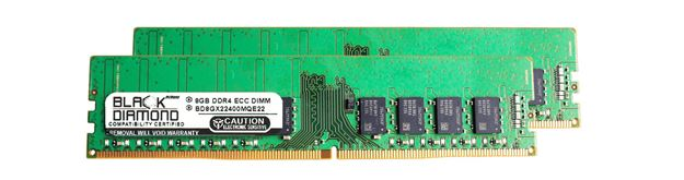 Picture of 16GB Kit (2x8GB) DDR4 2400 ECC Memory 288-pin (2Rx8)
