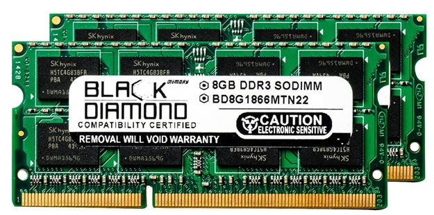 Picture of 16GB Kit(2X8GB) DDR3 1866 (PC3-14900) SODIMM Memory 204-pin (2Rx8)