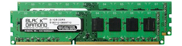 Picture of 1GB DDR3 1066 (PC3-8500) Memory 240-pin (2Rx8)