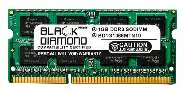 Picture of 1GB DDR3 1066 (PC3-8500) SODIMM Memory 204-pin (2Rx8)
