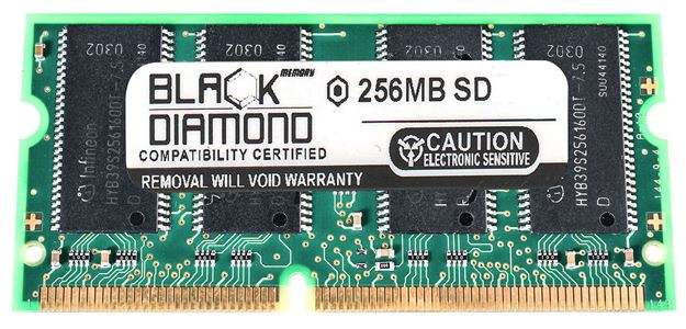 Picture of 256MB SDRAM PC100 SODIMM Memory 144-pin (2Rx8)