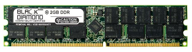 Picture of 2GB DDR 400 (PC-3200) ECC Registered Memory 184-pin (2Rx4)