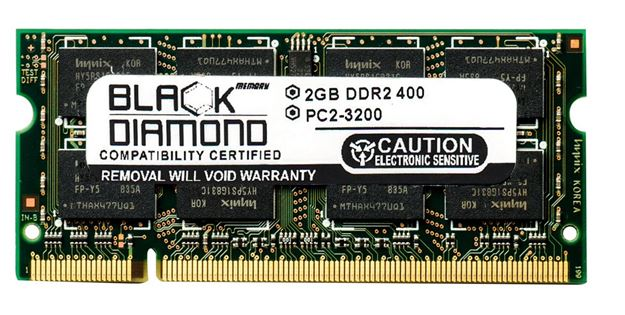 Picture of 2GB DDR2 400 (PC2-3200) SODIMM Memory 200-pin (2Rx8)