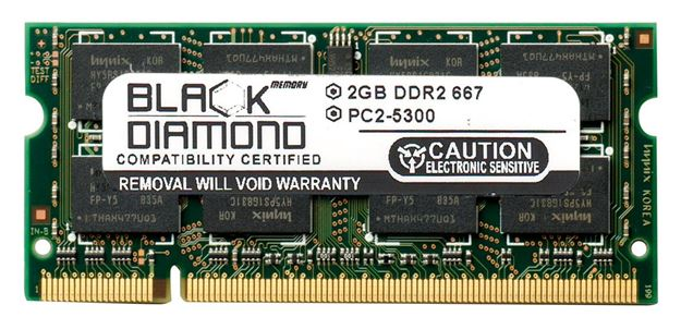 Picture of 2GB DDR2 667 (PC2-5300) SODIMM Memory 200-pin (2Rx8)