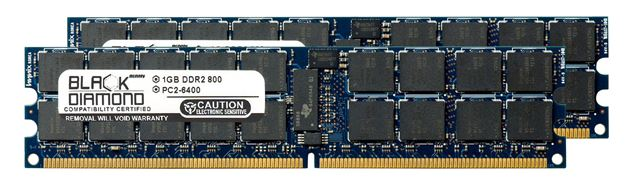 Picture of 2GB Kit (2x1GB)  DDR2 800 (PC2-6400) ECC Registered Memory 240-pin (2Rx4)