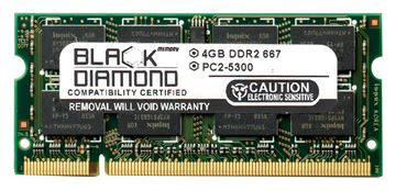 Picture of 4GB DDR2 667 (PC2-5300) SODIMM Memory 200-pin (2Rx8)