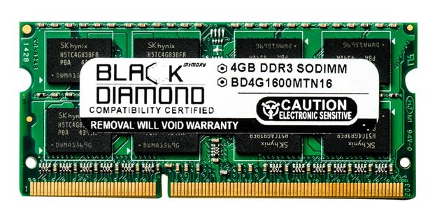 Picture of 4GB DDR3 1600 (PC3-12800) SODIMM Memory 204-pin (2Rx8)