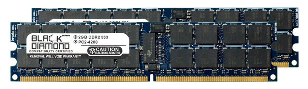 Picture of 4GB Kit (2x2GB) DDR2 533 (PC2-4200) ECC Registered Memory 240-pin (2Rx4)