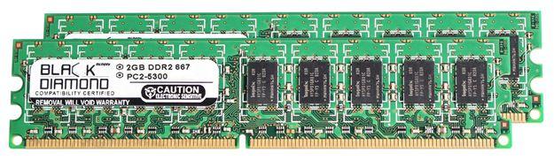 Picture of 4GB Kit (2x2GB) DDR2 667 (PC2-5300) ECC Memory 240-pin (2Rx8)