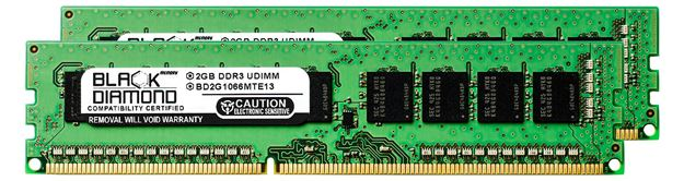 Picture of 4GB Kit (2x2GB) DDR3 1066 (PC3-8500) ECC Memory 240-pin (2Rx8)