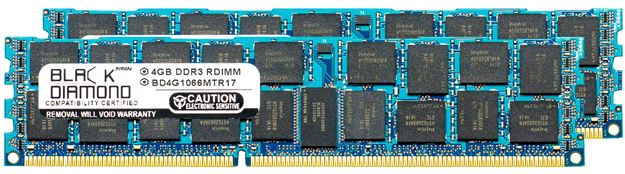 Picture of 4GB Kit (2x2GB) DDR3 1066 (PC3-8500) ECC Registered Memory 240-pin (1Rx4)