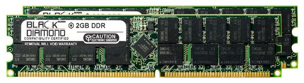 Picture of 4GB Kit(2X2GB) DDR 266 (PC-2100) ECC Registered Memory 184-pin (2Rx4)