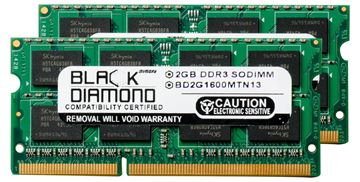 Picture of 4GB Kit(2x2GB) DDR3 1600 (PC3-12800) SODIMM Memory 204-pin (2Rx8)