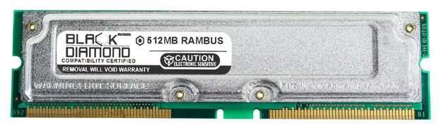 Picture of 512MB Rambus PC800 45ns ECC Memory 184-pin