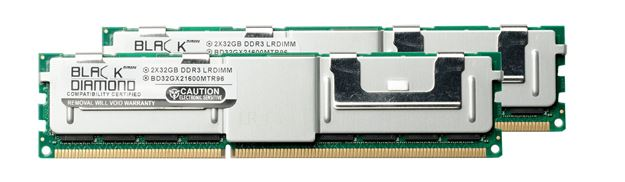Picture of 64GB Kit (2x32GB) (4Rx4) LRDIMM DDR3 1600 (PC3-12800) ECC Registered Memory 240-pin