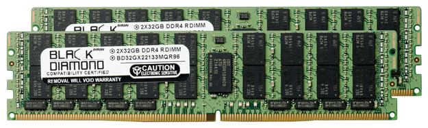 Picture of 64GB Kit (2x32GB) (4Rx4) LRDIMM DDR4 2133 ECC Registered Memory 288-pin