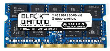 Picture of 8GB (2Rx8) DDR3 1600 (PC3-12800) ECC SODIMM Memory 204-pin