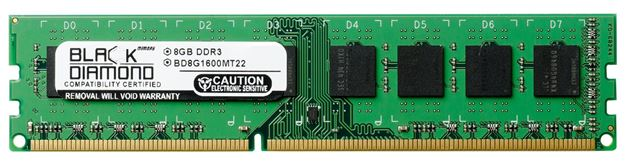 Picture of 8GB (2Rx8) DDR3 1600 (PC3-12800) Memory 240-pin