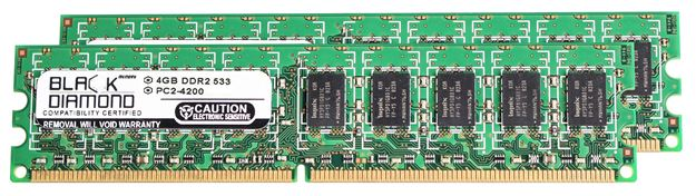 Picture of 8GB Kit (2x4GB) DDR2 533 (PC2-4200) ECC Memory 240-pin (2Rx8)