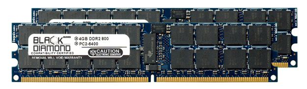 Picture of 8GB Kit (2x4GB) DDR2 800 (PC2-6400) ECC Registered Memory 240-pin (2Rx4)
