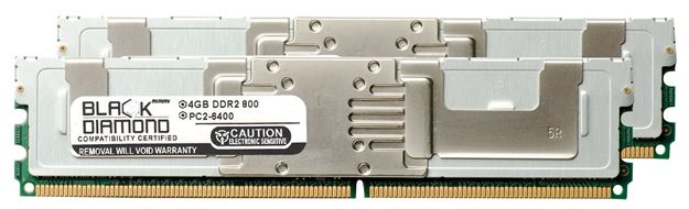 Picture of 8GB Kit (2x4GB) DDR2 800 (PC2-6400) Fully Buffered Memory 240-pin (2Rx4)