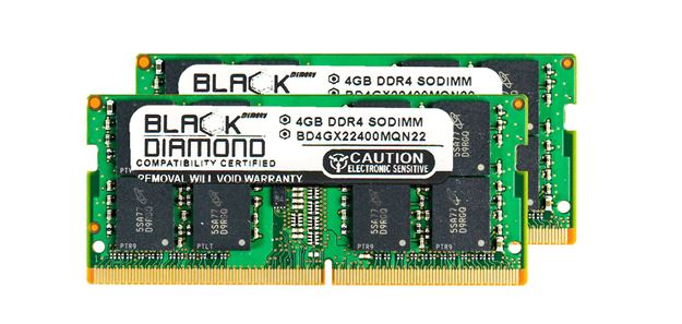 Picture of 8GB Kit (2x4GB) DDR4 2400 SODIMM Memory 260-pin (2Rx8)