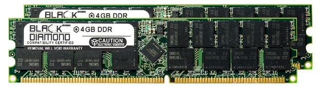 Picture of 8GB Kit(2X4GB) DDR 266 (PC-2100) ECC Registered Memory 184-pin (2Rx4)