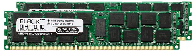 Picture of 8GB Kit(2x4GB) DDR3 1066 (PC3-8500) ECC Registered Memory 240-pin (2Rx8)