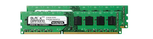 Picture of 16GB Kit (2x8GB) DDR3 1600 (PC3-12800) Memory 240-pin (2Rx8)