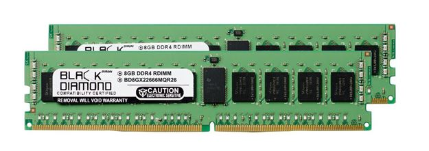 Picture of 16GB Kit (2x8GB) DDR4 2666  ECC Registered Memory 288-pin (1Rx4)